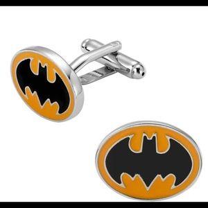 Gentleman's Superman Silver Plated Cufflinks
